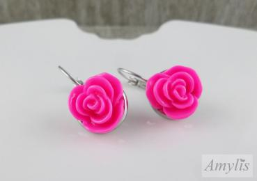 Ohrstecker Rose, pink